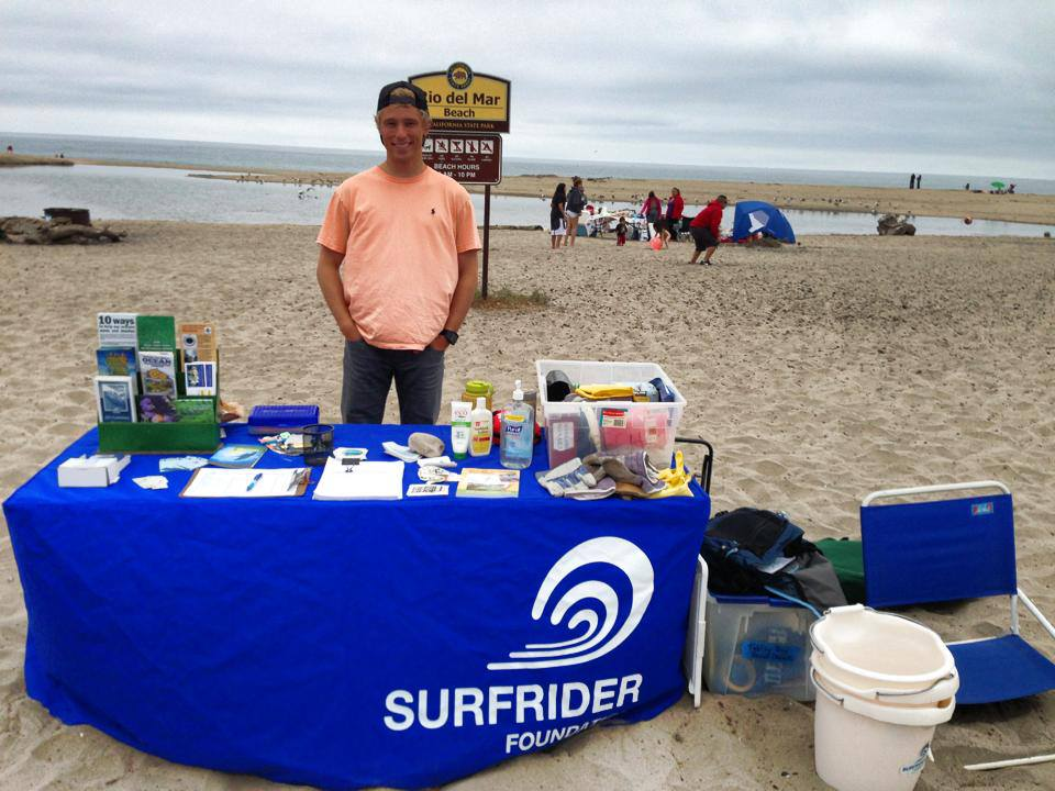 Volunteer Coordinator Phil Chowaniac at Beach Clean Up